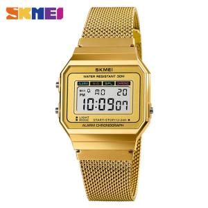 SKMEI 1639 Luxury Women Men Wristwatch Digital Sport Casual Watch LED Display Square Digital Watch Men Electronic Casual Watc