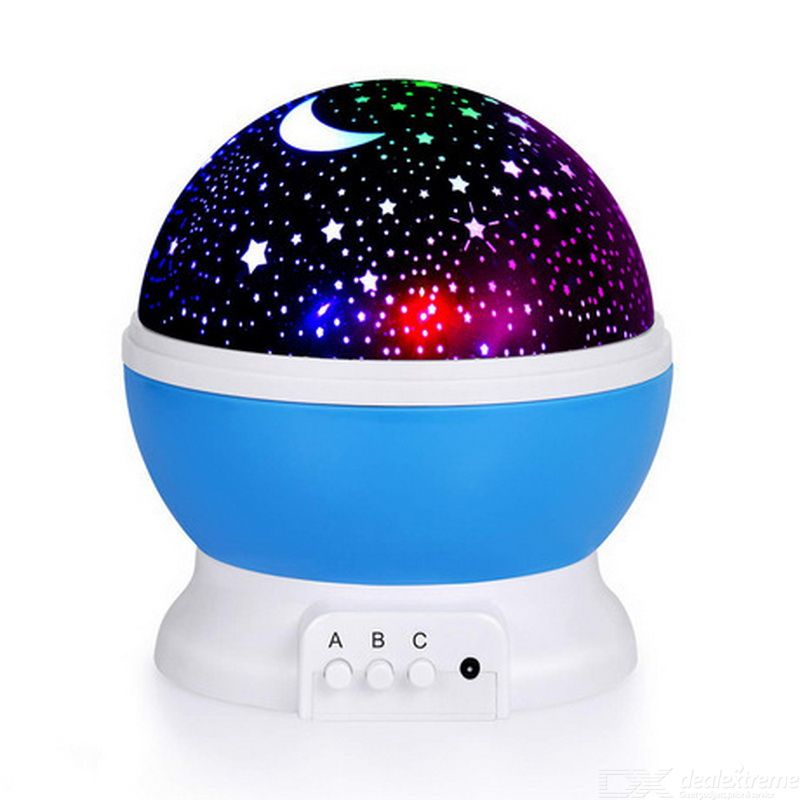 LED Light Projector With Moon Rotating Projector Lamp For Kids Bedroom LED Effect Lighting For Halloween Star Moon Bedside Light