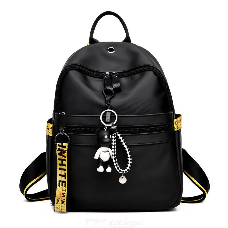 Fashion Black Backpack For Women All-match Travel Bags Oxford Canvas Backpack Waterproof Schoolbags Anti-thief Bags