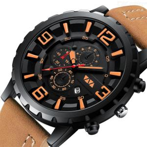 VAVAVOOM VA-504 Quartz Watch Life Waterproof Microfiber Strap Sweat Resistant Wearable Buckle For Men
