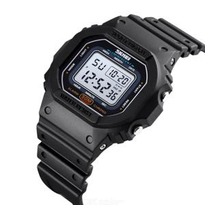 SKMEI 1608 Outdoor Digital Men Watch Military Colorful LED Light Male Clock Sports Waterproof