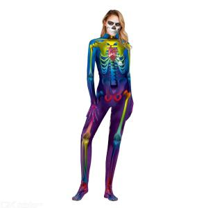Halloween Costumes 3D Skeleton Costume Scary Ghost Costumes For Women Slim Halloween Spoof Jumpsuit Ghost Holiday Rompers