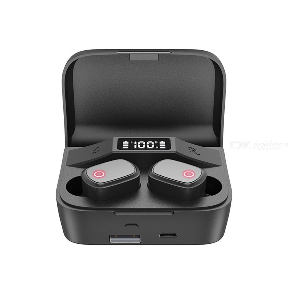 Bluetooth Headset TWS Real Wireless Headphones Digital Battery Quantity Display Portable Waterproof Earplugs HiFi Sound Quality