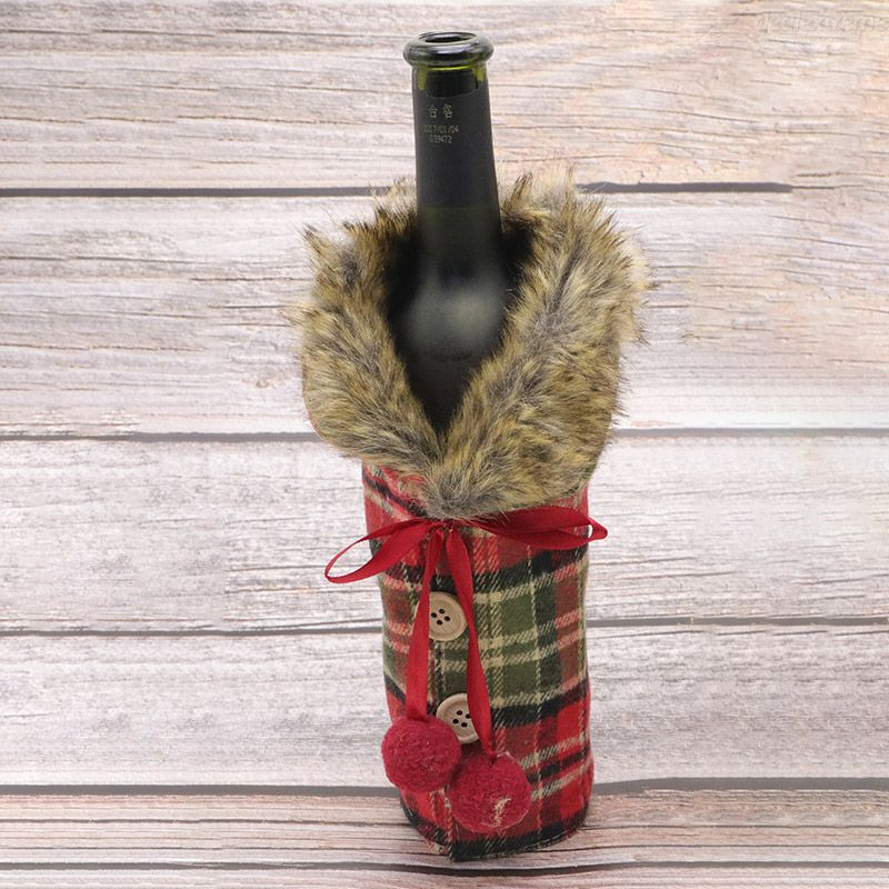 Dealextreme / Xmas Wine Bottle Cover Champagne Bottle  Bags Christmas Table Decoration Xmas Party Bar Atmosphere Gifts Wine Bottle Cover