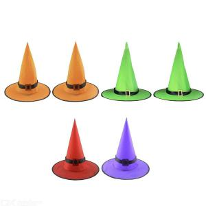 Halloween Hanging Lighted Glowing Witch Hats String Lights Halloween Witch Hat Halloween Decorations LED Lighted Witches Hats