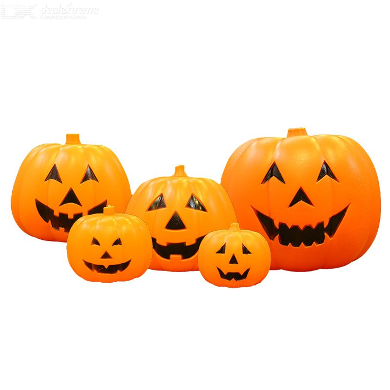 Halloween Decorations Voice-activated Pumpkin Lamp Ghost Festival Voice-over Pumpkin Light Decorative Props