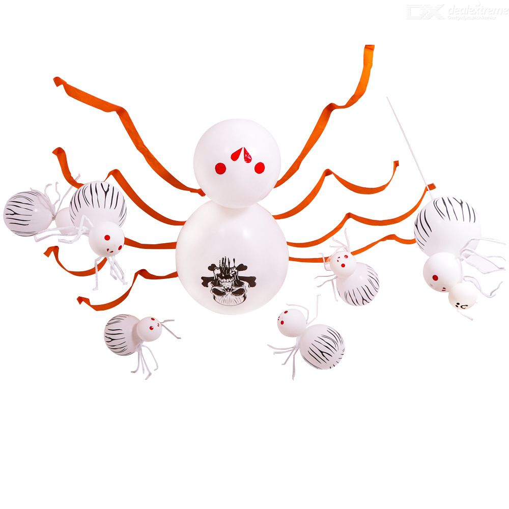 Home Halloween Decoration Balloon Spider Ghost Festival Party Supplies Giant Spider Haunted House Horror Theme Party