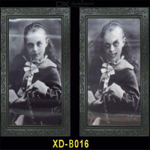 Halloween 3D Changing Face Picture Photo Frame Lenticular 3D Accessories Spooky Haunted Painting Frame Horror Photo Frame
