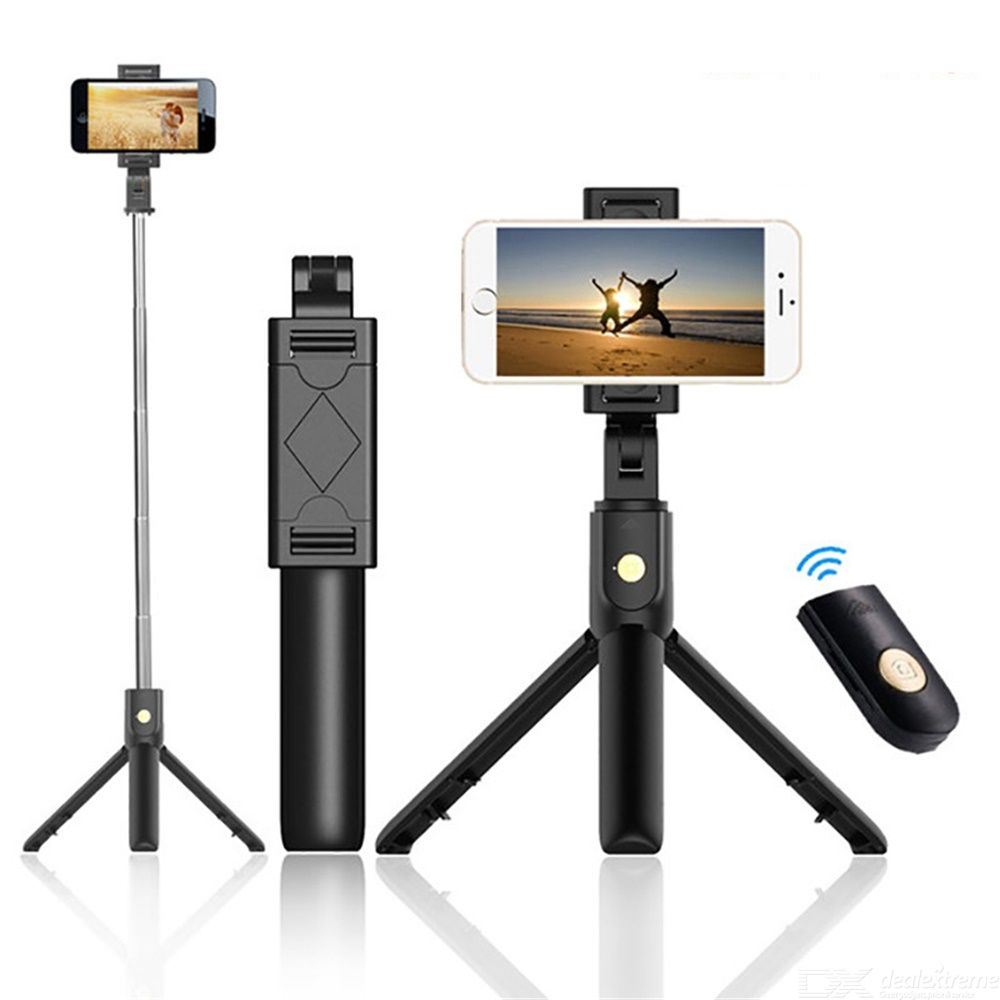 K07 Bluetooth Selfie Stick Portable Rotation Stretchable Remote Control Bluetooth 4.0 With Tripod
