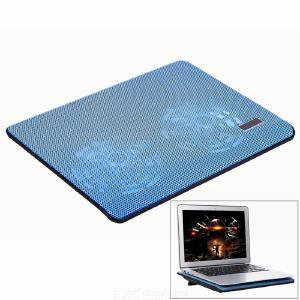 Metal Mesh Dual Fan Ultra-Thin Notebook Radiator / Laptop Cooling Pad for Under 17 Inche