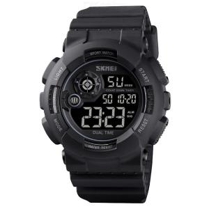 SKMEI 1583 Digital Watch Waterproof Shockproof Luminous Display Stainless Steel Buckle For Men