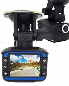 Two in one HD Car DVR 2 inch Vehicle-mounted radar speed measurement
