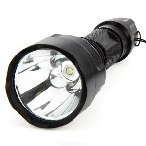 C8 1000LM XML-T6 Tactical LED Flashlight Outdoor Hunting High Power ultra Bright Waterproof Zoom LED Flashlight 18650 Battery Se
