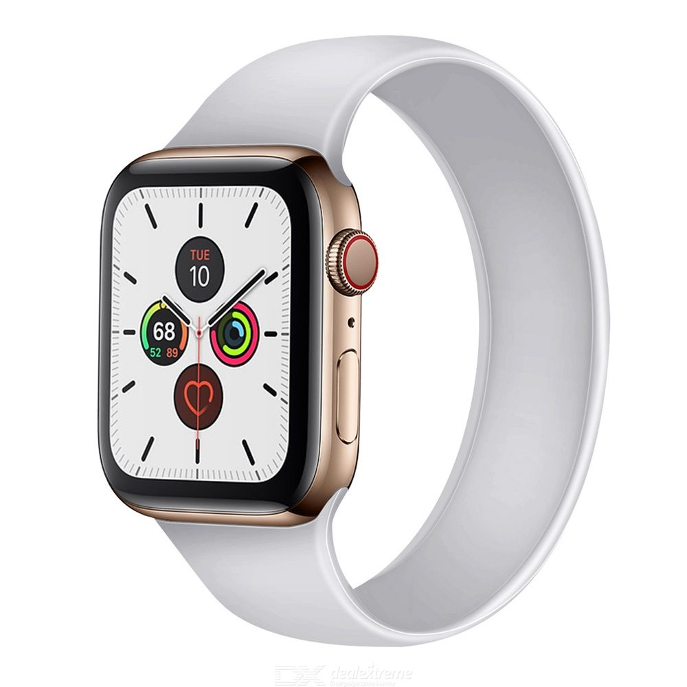 Silicone Strap Flexible Water-resistant Soft Comfortable Skin-friendly For Apple Watch