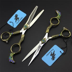 Freelander 6.0 Inch Scissors Hair Trimming Cutter 440C Stainless Steel Hair Shearing Barber Hairdressing Cutter Pet Grooming