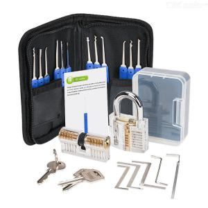 24pcs unlocking tool set transparent padlock practice tool set