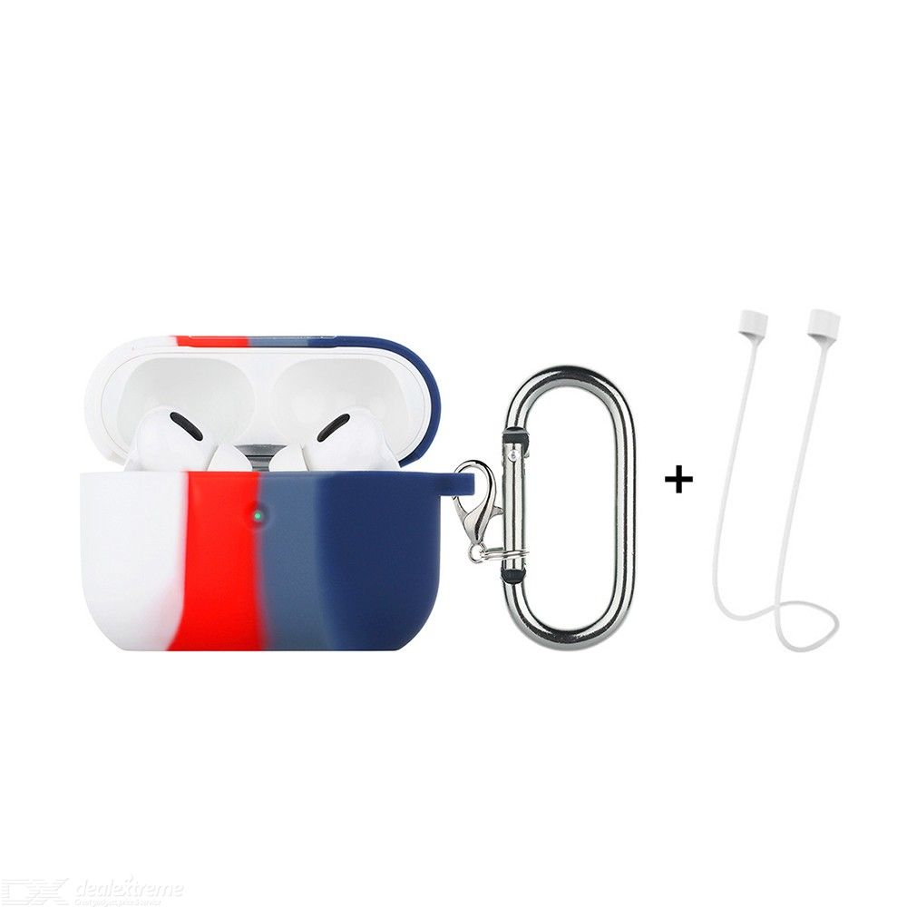 ENKAY Hat-Prince ENK-AC8102 for Apple AirPods Pro Wireless Earphone TPU Protective Case with Carabiner and Anti-lost Rope