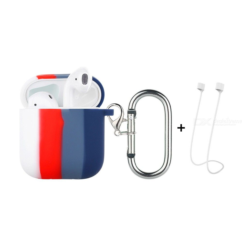 ENKAY Hat-Prince ENK-AC8002 for Apple AirPods 1 / 2 Wireless Earphone TPU Protective Case with Carabiner and Anti-lost Rope