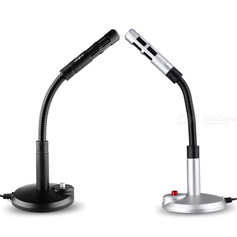Ovann OV-M369 360° Omni-directional Microphone Desktop Microphones For Computers Laptop Wired Microphones With Switch Table Mic