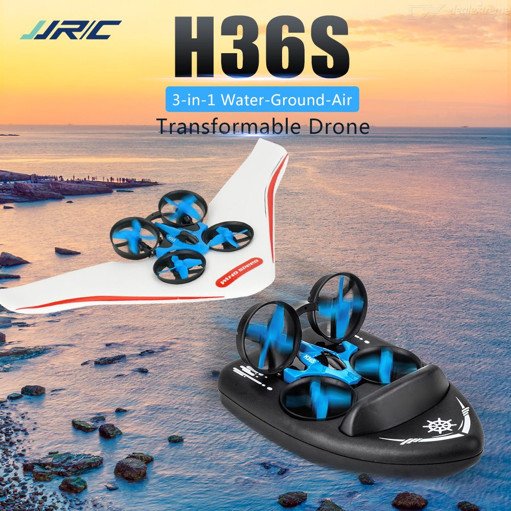 JJRC H36S Sea Land And Air Amphibious Four-axis Drone 2.4G Remote Control Simulation Hovercraft Wireless WIFI Single Version