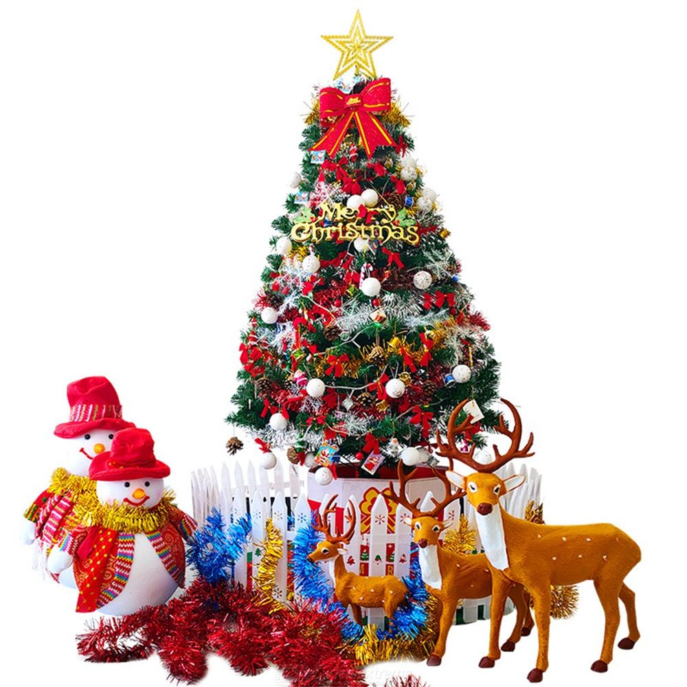 60CM Christmas Tree Package Festive Party Decorations Garden Showcase PVC Christmas Trees Christmas Decor Christmas Gifts