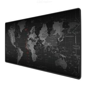 Large Gaming Mouse Pad with Stitched Edge Water Resistant World Map Non-slip Rubber Base Mouse Pad for Desktop Laptop Keyboard