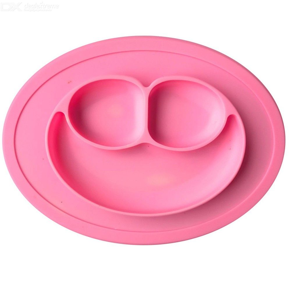Silicone One-Piece Smiley Face Place Mat for Infants And Young Children