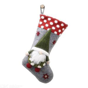 Christmas Decorations 20 Inch Lamb Wool Three-Dimensional Elf Socks Faceless Doll Christmas Decoration Stocking