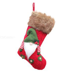 3 Pcs Christmas Sock 3D Plush Swedish Gnome Stockings For Fireplace Xmas Hanging Decor