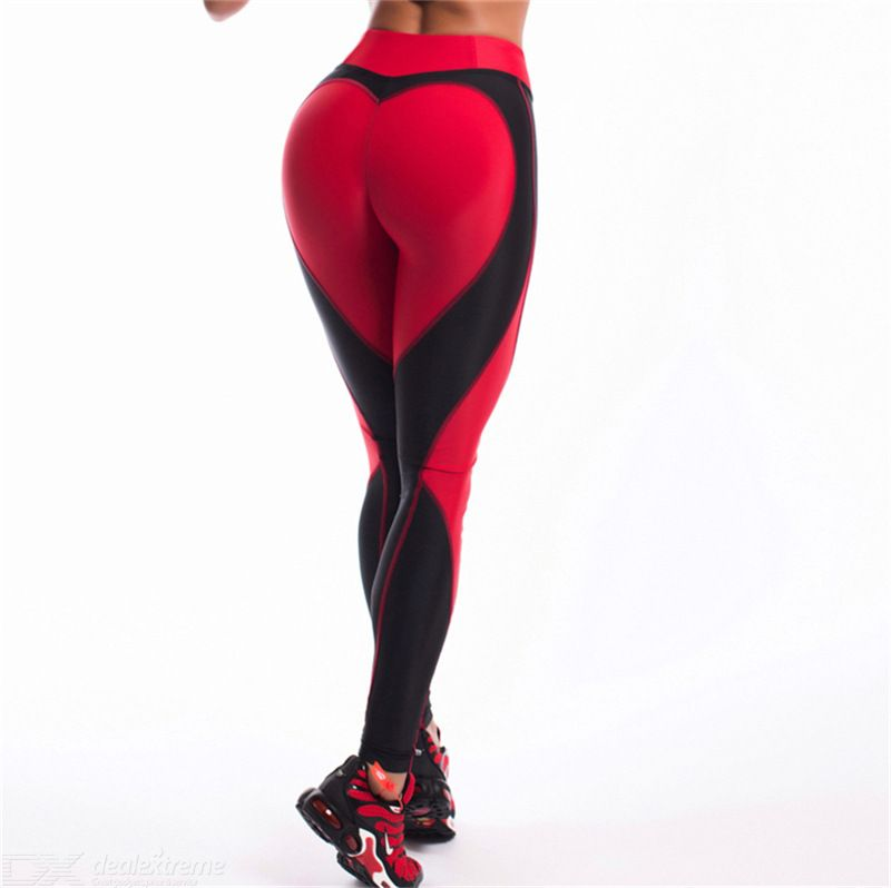 Heart Print Fitness Tight Leggings