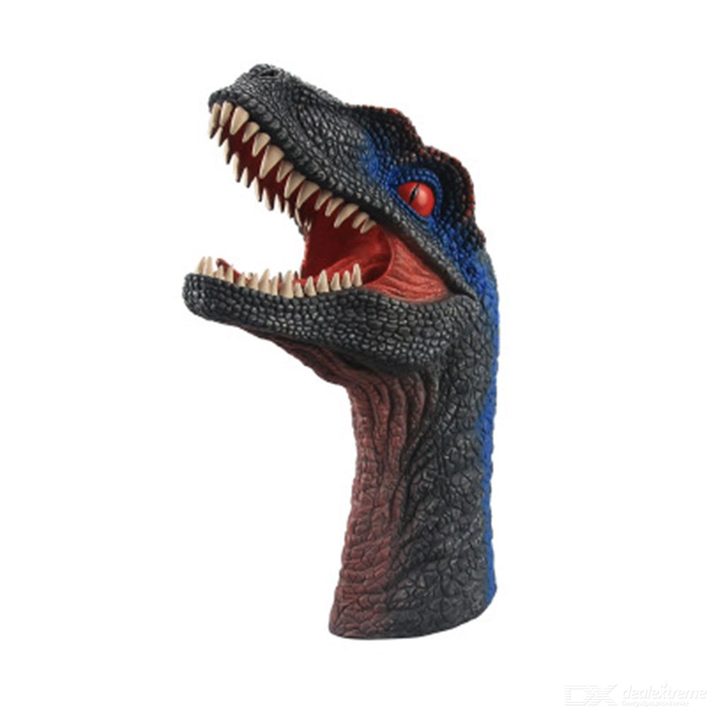 Dinosaur Hand Puppet Toys Soft Rubber Simulation Dinosaur Head Interaction Hand Puppets For Kids