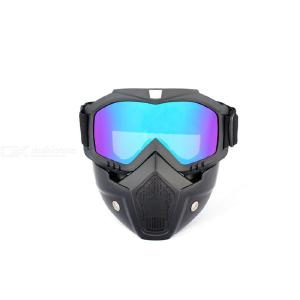 Harley Cycling Mask Motorcycle Windproof Glasses Mask Removable Goggles Motorcycle Protective Gears Goggles Mask