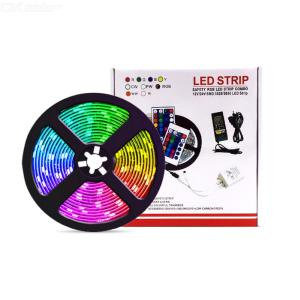 LED Light Strip Safety 5050 RGB LED Strip Combo  Bluetooth Smart LED Strip App Control Festive Decor For Home Parties Stores