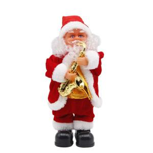 30CM Santa Claus Doll Electric Christmas Decoration Toys Xmas Gifts For Children Animated Moving  Santa Claus Dancing Doll