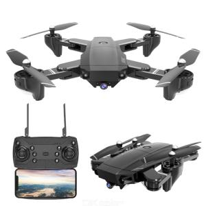 HDRC H13 Foldable Drone WIFI 4-axis Aerial Photography Portable Wear-resistant Color Box Packaging Multi-Electric Version