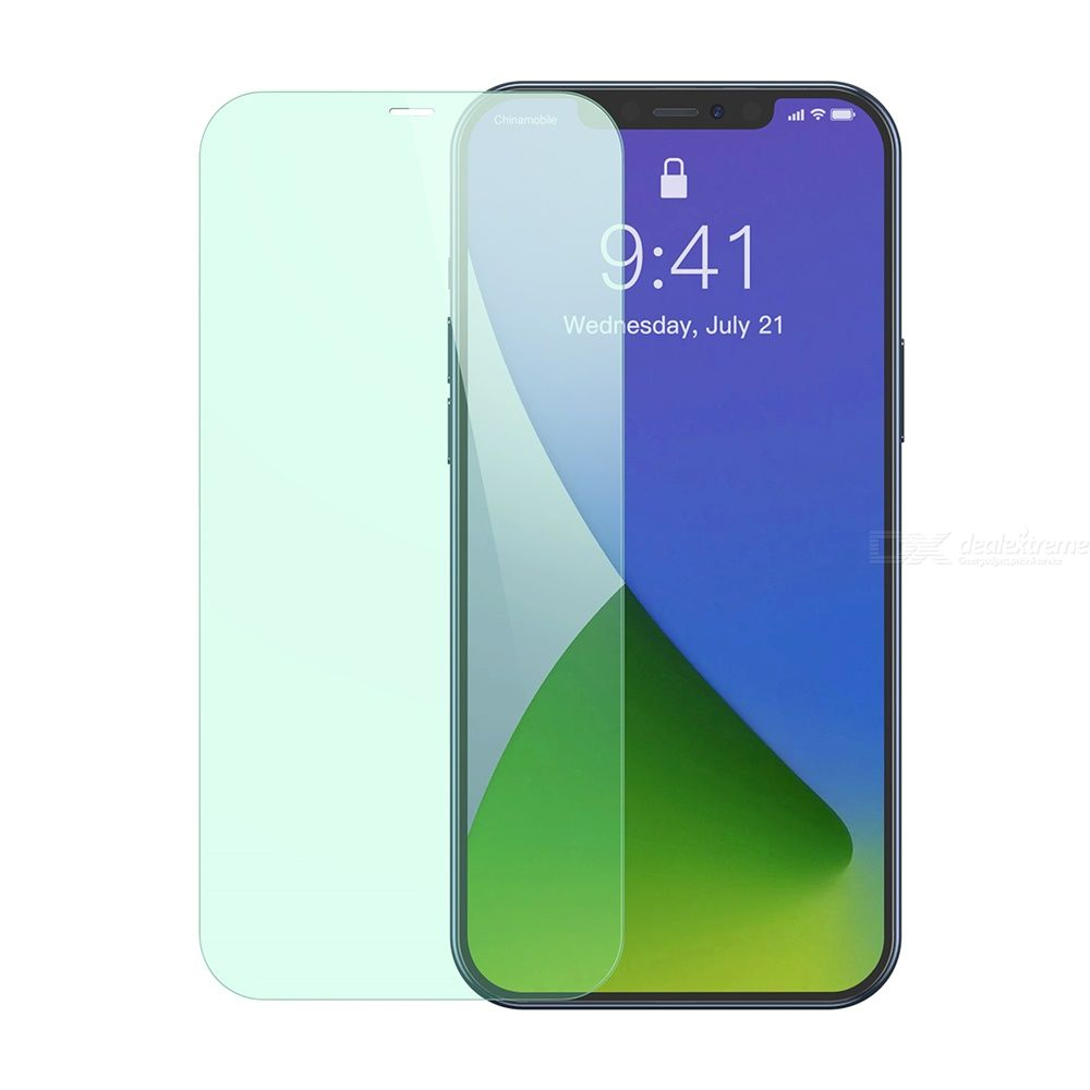Baseus 0.3mm Full Coverage Tempered Glass Green Light Film For IPhone 12/iPhone 12 Max/iPhone 12 Pro Max/iPhone 12 Pro