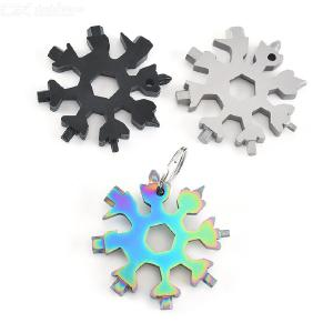 18-in-1 Multi-function Snowflakes Screwdriver Outdoor Mini Pocket Tool Camp Survive Tools Keychain Tools  Bottle Opener