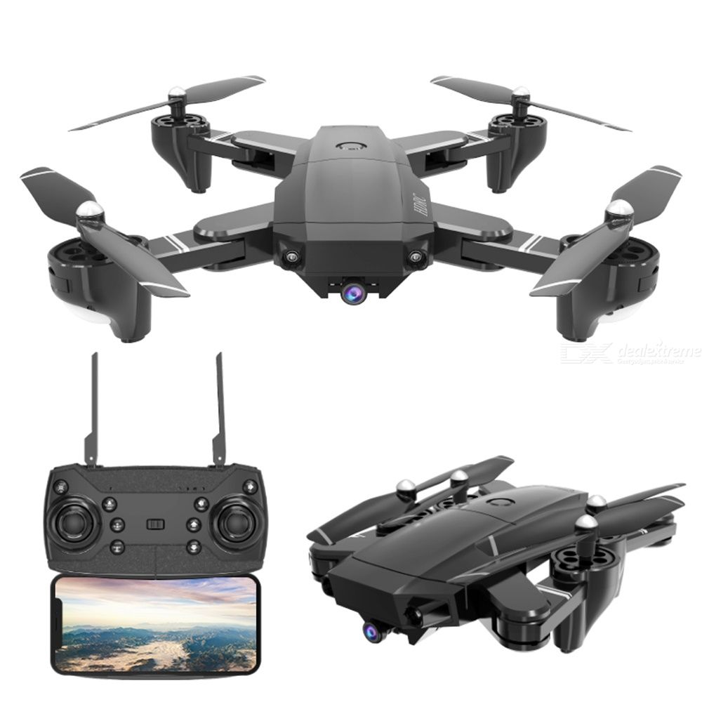HDRC H13 Foldable Drone WIFI 4-axis Aerial Photography Portable Wear-resistant Storage Bag Packaging Multi-Electric Version