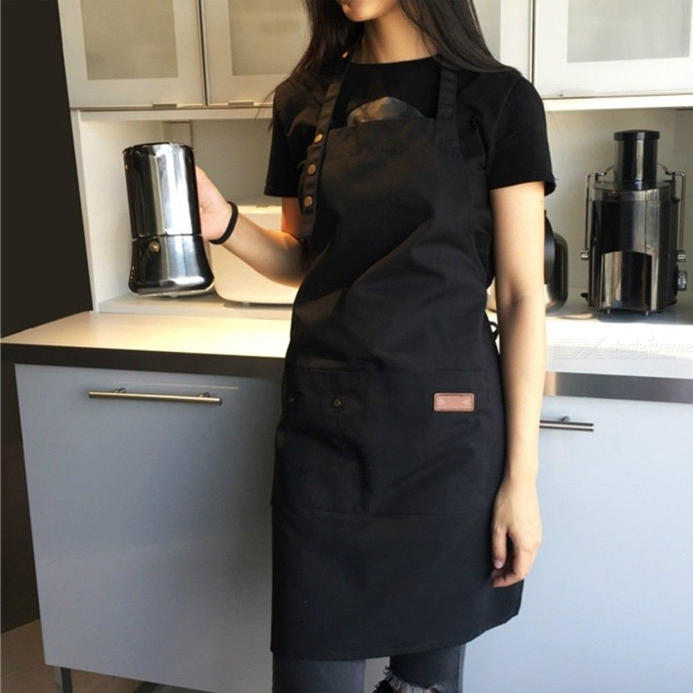 Pure Color Kitchen Apron Women Men Chef Waiter Cafe Shop Barbecue Barber Aprons Bibs Kitchen Accessory