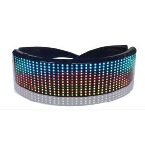 Magic bluetooth Led Party Glasses APP Control Shield Luminous Glasses USB Charge DIY Quick Flash Full Color Led Shining Glasses
