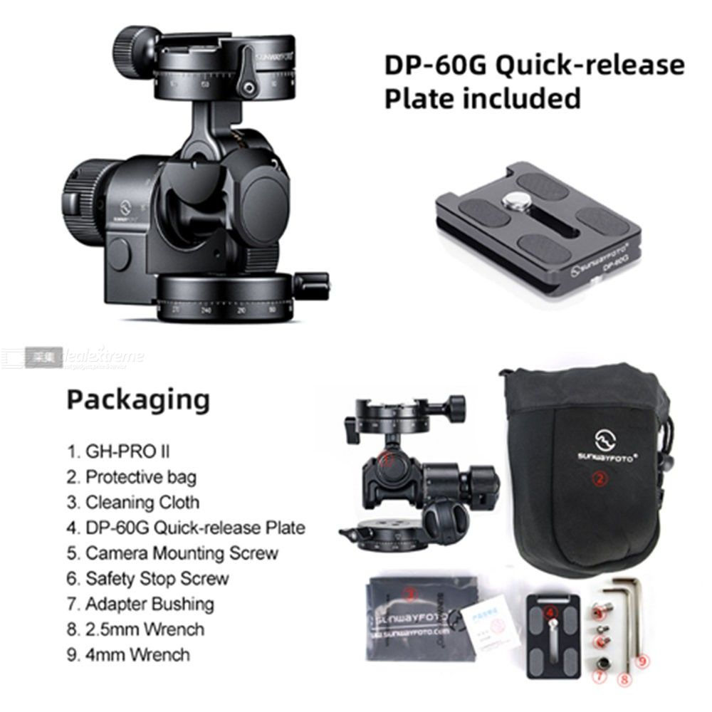 SUNWAYFOTO Geared Head GH-PRO II lose weight version