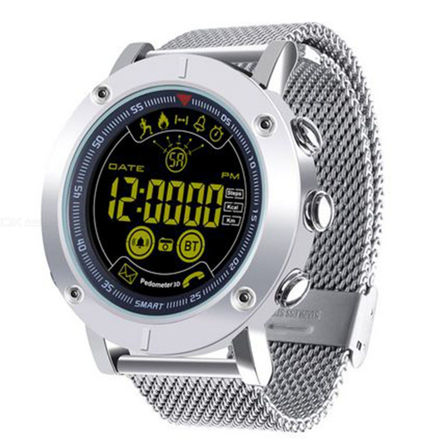 Ex19 smart watch large screen all metal body charging free extra long standby phone information to remind outdoor sports