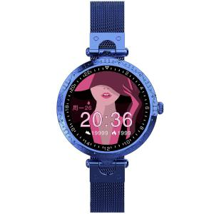 AK22 Smart Watch Waterproof Full-circle Dial Excellent Workmanship Slim Stainless Steel Strap Touch Control For Women