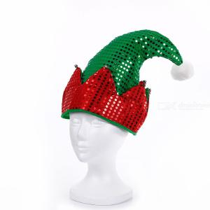 Xmas High-end Adult Christmas Hat Christmas Decoration Adult Fashion Green Red Christmas Hat Santa Hat