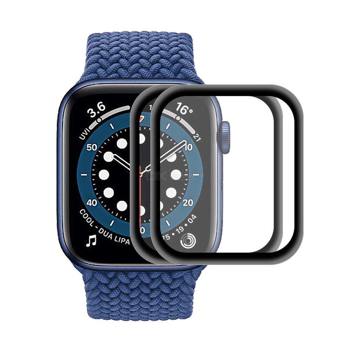 2PCS For Apple Watch Series 6/5/4/SE 40mm ENKAY Hat-Prince 0.2mm 9H Surface Hardness 3D Explosion-proof Aluminum Alloy Edge Full