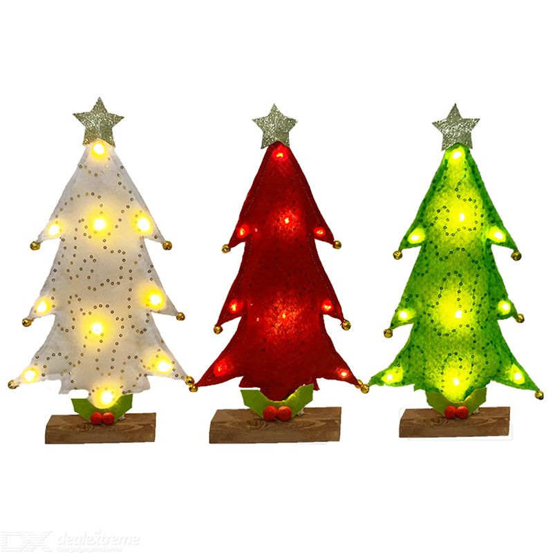 Christmas Trees Decoration Desktop Christmas Ornaments LED Mini Christmas Trees Festive Supplies For Party Xmas Gift For Friends