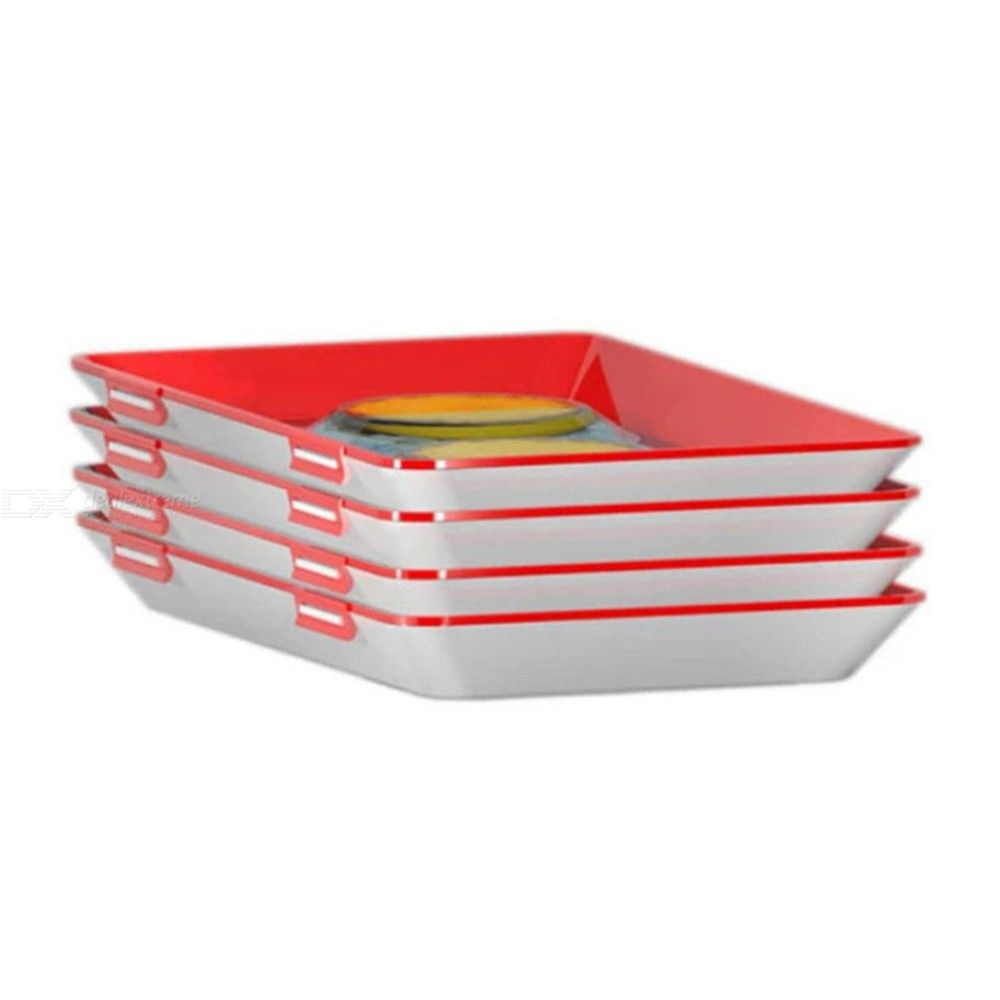 1 pc. Creative Healthy Food Preservation Tray Reusable Plastic Fresh Food Container Fridge Microwave Kitchen Cover