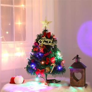 Christmas Tree Decorations Set 50cm Mini Christmas Tree Shopping Mall Decoration Supplies With Lights With Accessories Desktop