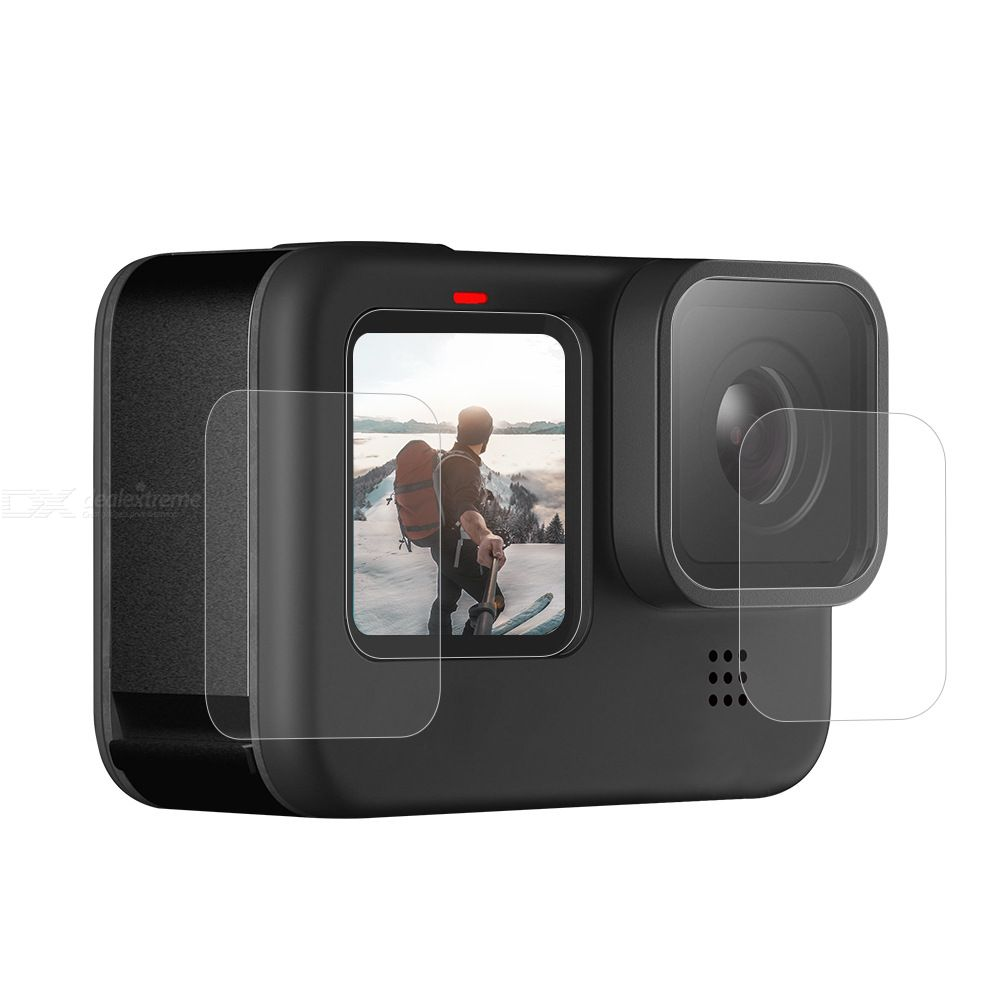 GoPro 9 Accessories Anti-scratch Camera Lens Film For Gopro 9 Screen Lens Protector 9H High Hardness 2.5D Arc Edge HD Films
