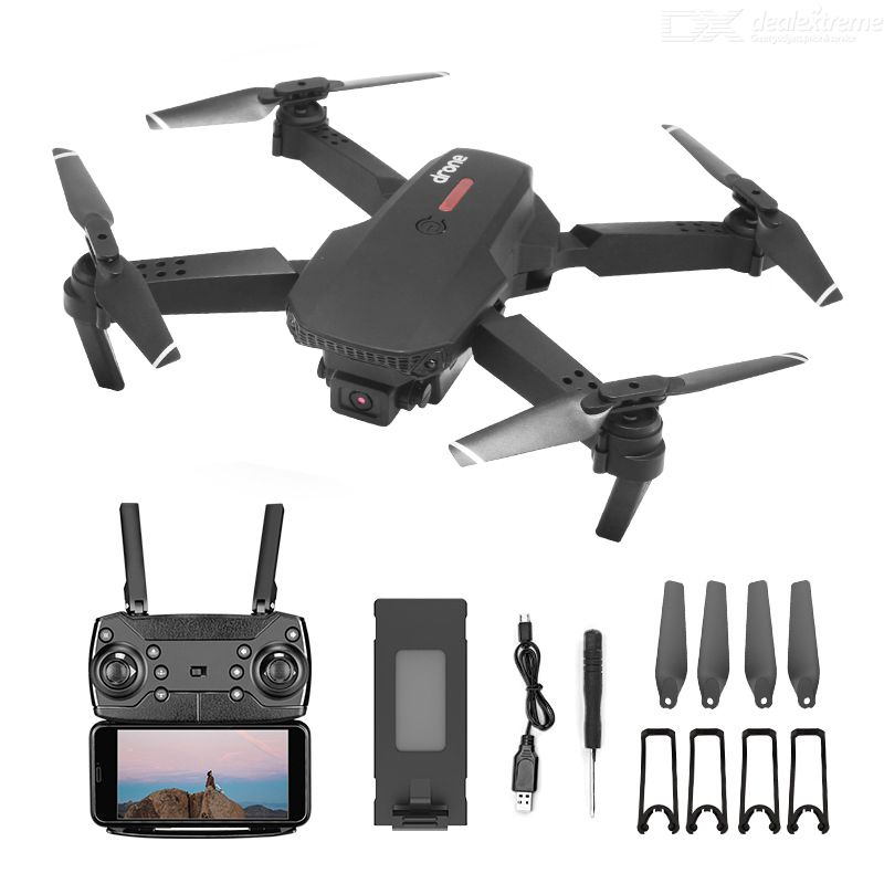 E88 Pro Foldable UAV 4K HD Aerial Photography Drone Optical Flow Drone With Dual Cameras 4-axis RC Drone One-battery Version